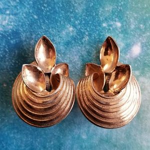 Vintage Monet Sterling Silver vermeil earrings